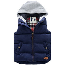 Children Hoodies Vests Warm Jacket Baby Girls Outerwear Coats Kids Vest Boys Hooded Jackets Autumn Winter Thicken Waistcoats
