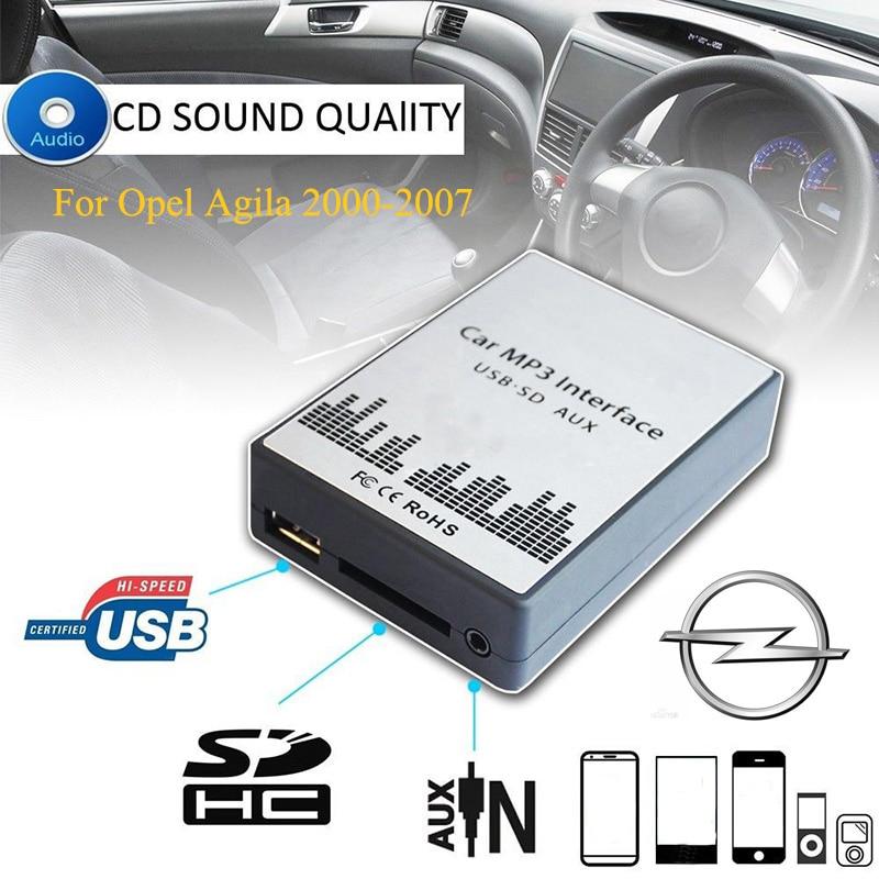 SITAILE USB SD AUX car MP3 music player Adapters CD machine for Opel Agila 2000-2007 (non Navi) 8+6Pin Interface Car Kit Styling недорго, оригинальная цена