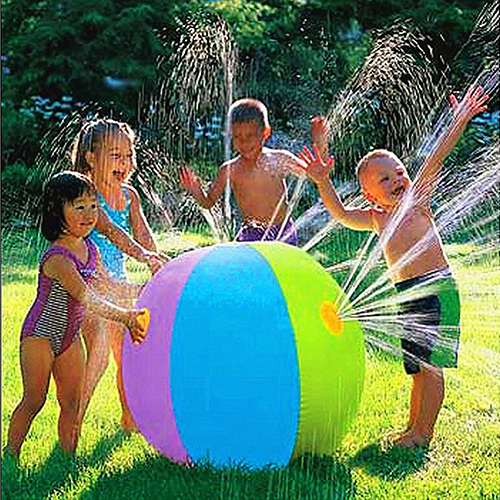 Children's Outdoor Lawn Swimming Beach Inflatable Water Fountain Ball