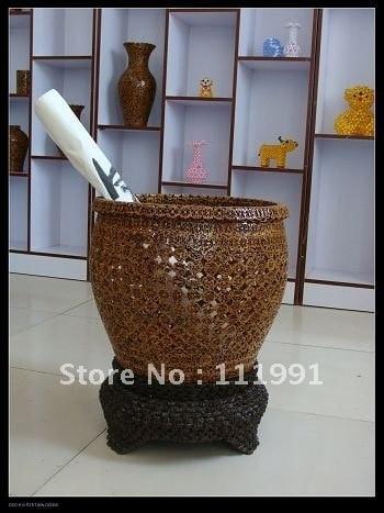 Hickory Nut Art -Pencil vase