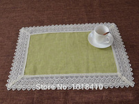 2pcs Lot Tea Time Linen Water Soluble Lace Fabric Tablecloth Table Napkin Table Runner Sofa Cover