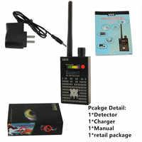1 mhz-8000 mhz detecção de rádio anti sinal de espião câmera escondida gsm localizador de bugs de áudio 4g gps sinaliza a lente detectores de rastreador rf preto
