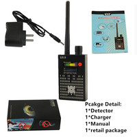 1MHz 8000MHz Radio Detection Anti Spy Signal Hidden Camera GSM Audio Bug Finder 4G GPS Signals Lens RF Tracker Detectors Black
