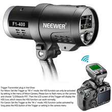 Neewer двойной TTL открытый флэш Strobe Light для Canon цифровых зеркальных фотокамер Nikon Камера, с 2.4 г Беспроводной триггера + 3200 мАч Перезаряжаемые Батарея