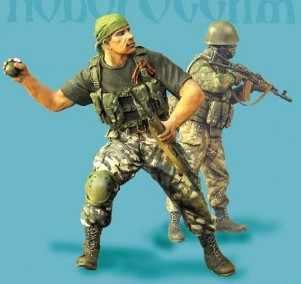 1/35 scale miniatures modern East Ukrainian militia fighters in combat Resin Model Kit figure Free Shipping