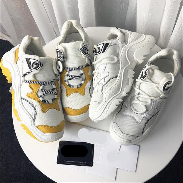 High quality women sneakers sport shoes walking shoes ins the hottest shoes genuine leather 2018 new small white shoes INS94 high quality walking shoes thick crust sneakers female ins the hottest shoes 2018 new small white women s sport shoes wk46