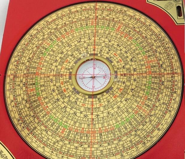 Hongkong Diameter 6 Inch 24 Layer Color Edition Three Yuan Three Professional Feng Shui Compass Compass