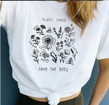 save the bees tshirt harajuku t shirt aesthetic print women plus size vintage casual streetwear korean clothes