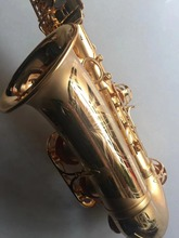 Original Taiwan MUSEADF Alto Saxophone 18k Gold Electrophoresis Instrument Dedicated Brass tube body Saxophone E Flat Saxofone