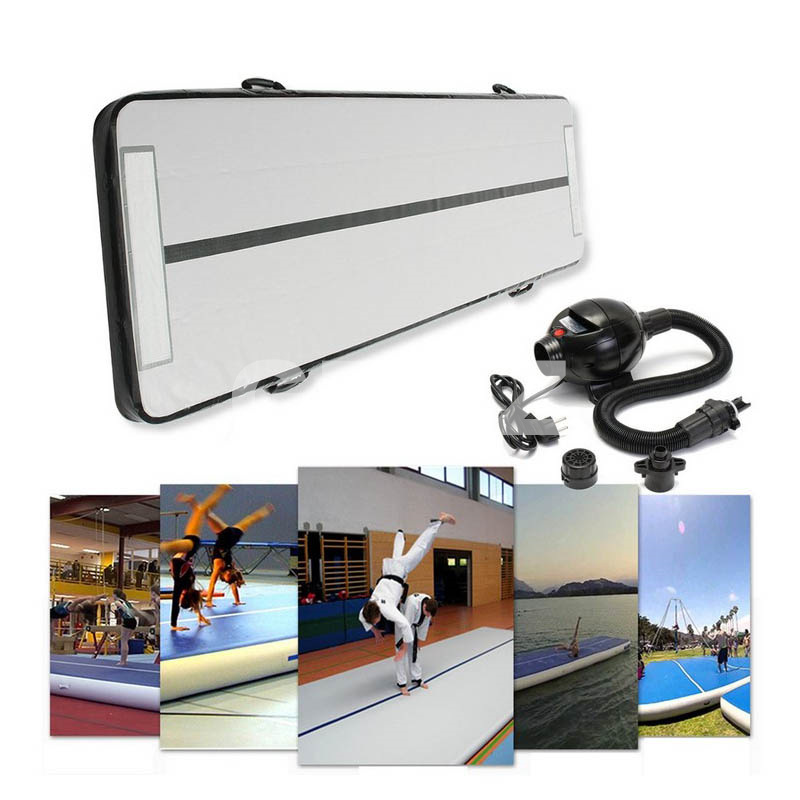 Free Shipping Whole Sales black Color 3x1m Inflatable Air Tumble Track/Double Wall Fabric Inflatable Airtracks For Sale hot sale inflatable air tumble track gymnastics for sale