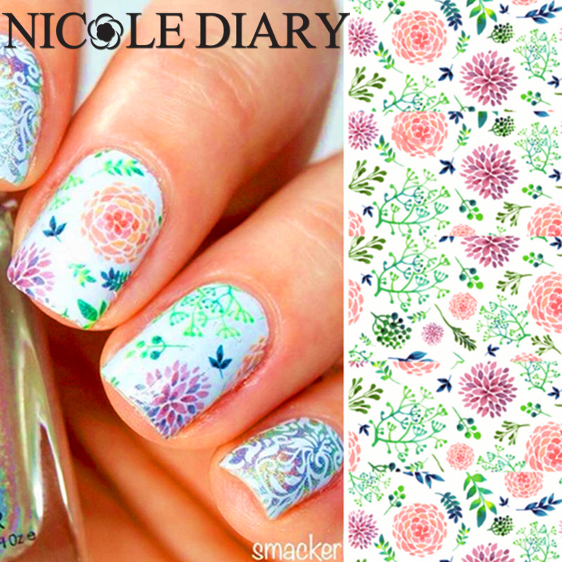 NICOLE DIARY-05 Nail Art Water Decals Water Transfer Nail Art Stickers Featuring Nail Art Water Tattoo 25939