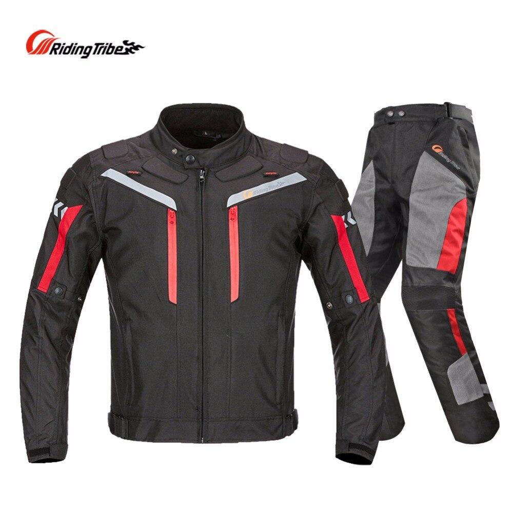 Hommes Moto veste + Moto pantalon ensemble printemps été respirant maille veste Moto pantalon costume vêtements de protection - 3