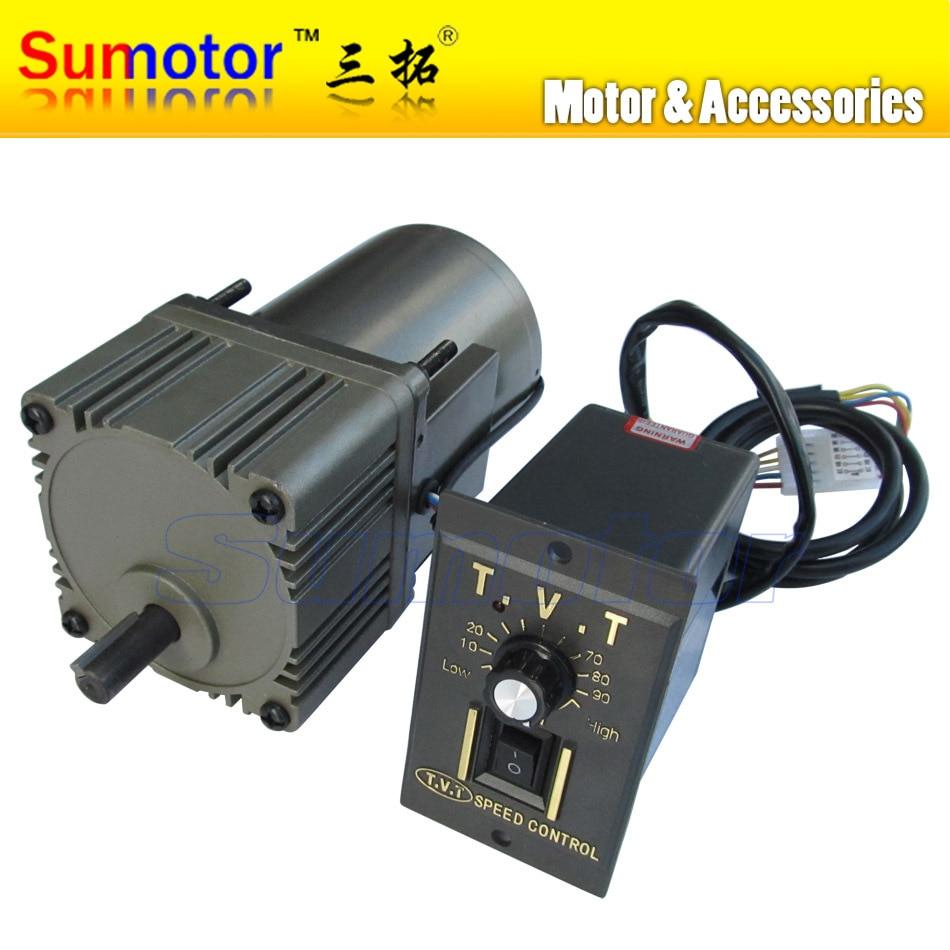 25W reducer AC motor 220 240V flange Size 80x80mm single