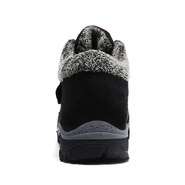 VANCAT Men Boots Winter With Fur 2018 Warm Snow Boots Men Winter Boots Work Shoes Men Footwear Fashion Rubber Ankle Shoes 39-46