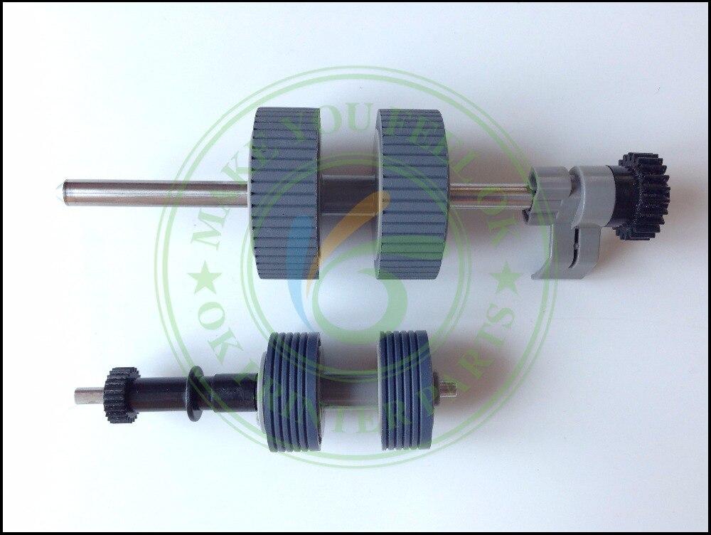PA03540-0001 PA03540-0002 Brake & Pick Roller + axle for Fujitsu Fi-6130 Fi-6130Z Fi-6230 Fi-6140 Fi-6240 Fi-6125 Fi-6225 IX500
