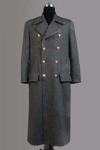 Torchwood Doctor Captain Jack Harkness Wool Trench Coat Grey Version Cosplay Costume