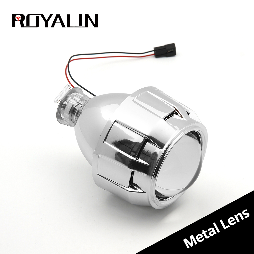 Buy Royalin Car Styling 18 Hid Bi Xenon Headlight Wiring Diagram Metal Projector Lens Motorcycle Head Light Mini H1 Lenses For H4 H7