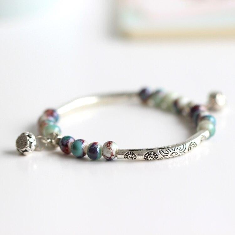 Hot Ceramic Jewelry Handmade Girl Bracelet Unique Vintage ...