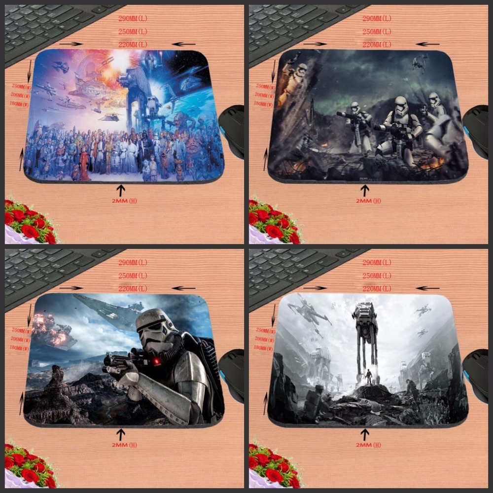 Mairuige  Star Wars Top Selling Print Anti-slip New Arrival Customized Rectangular Rubber Mouse Pad Computer PC Nice Gaming
