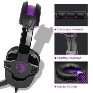 Image 4 - SADES SA 930 auriculares PS4 profesionales, auriculares para videojuegos de 3,5mm con Cable de 1 a 2 para ordenador y teléfonos móviles