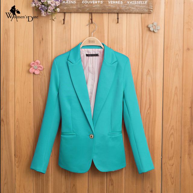 WomensDate 2017 Primavera Novas Mulheres Blazer Terno Blazer Jaqueta Marca Dobrável Feito De Algodão & Spandex Com Forro Atualizar Blazers