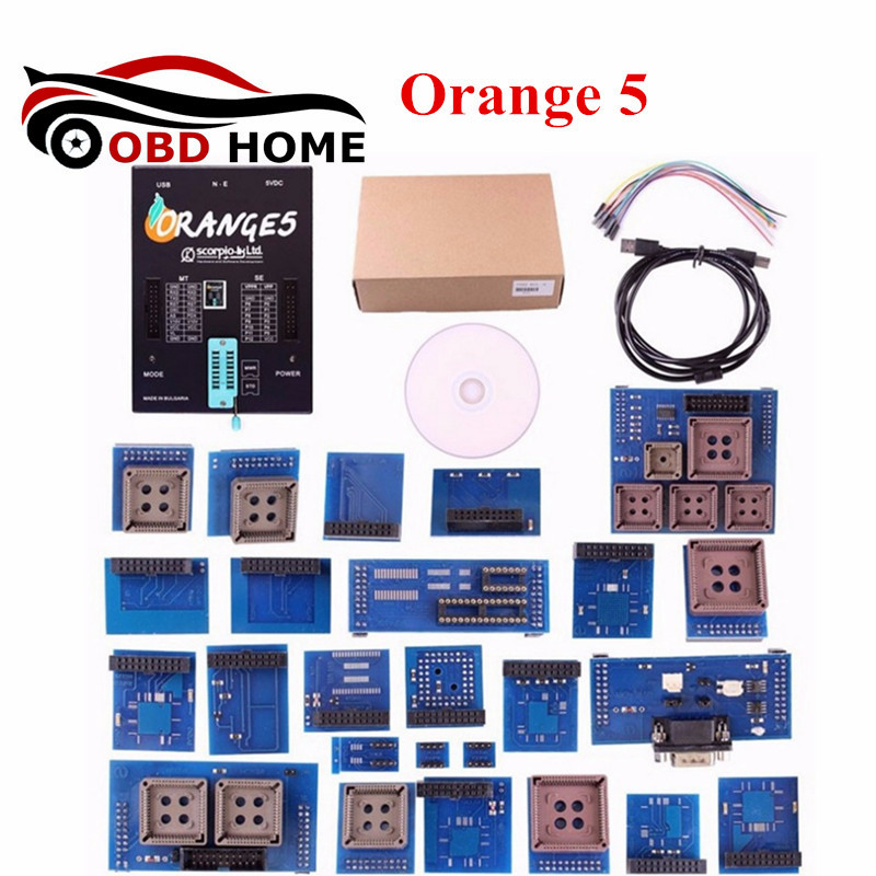 OEM Orange5 Programmer Memory and Microcontrollers Programming Device Orange 5 Full Set With Full Adapters and Software