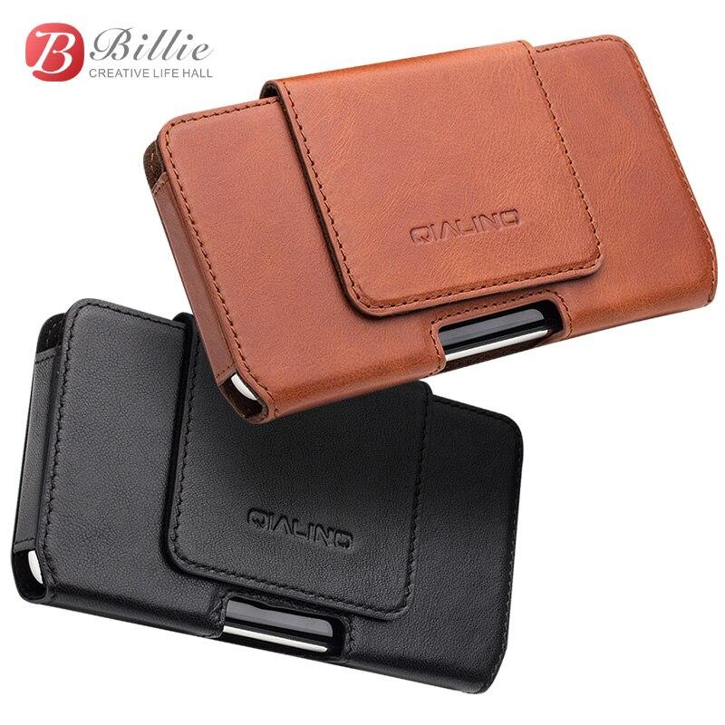 QIALINO Telefon Tasche Fall Für iPhone X Taille Gürtel Tasche Tasche Abdeckung für iPhone 10 luxus Echtes Leder Fall für iPhone XS 5,8 zoll