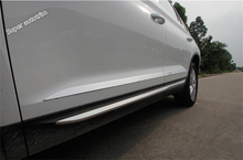 Lapetus Side Car Door Body Strip Streamer Plate Cover Trim 4 Pcs / Set Fit For Skoda Kodiaq 2017 2018 2019 Stainless Steel
