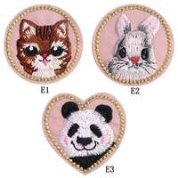 Cute Animal Embroidery Cloth Stickers Fabric Patches Diy Clothing Jeans Jacket Decorative Accessories