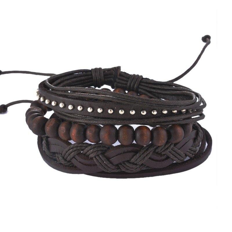 MJARTORIA Multilayer Leather Bracelets Fs