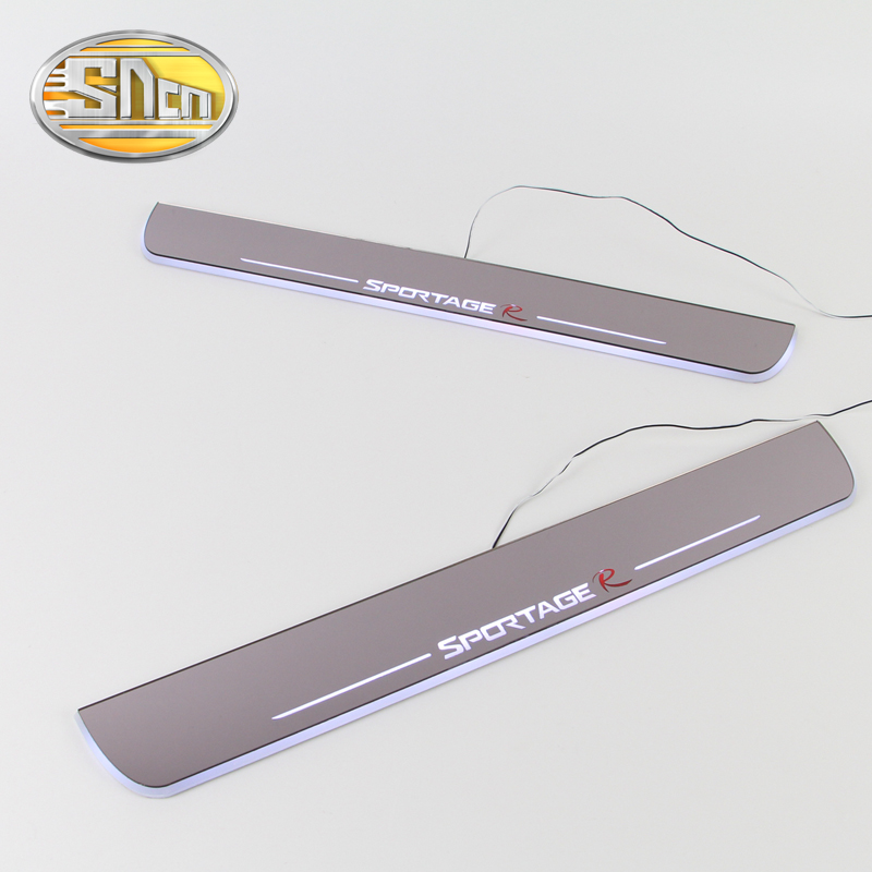 SNCN Waterproof Acrylic Moving LED Welcome Pedal Car Scuff Plate Pedal Door Sill Pathway Light For Kia Sportage 2010 - 2016 waterproof acrylic moving led welcome pedal car scuff plate pedal door sill pathway light for hyundai i30 2013 2014