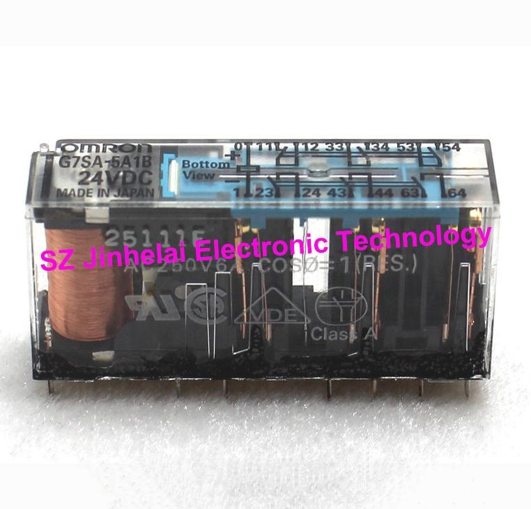 G7SA-5A1B DC24V Authentic original OMRON Safety relay 24VDC original safety relays pnoz 16sp 24vac 24vdc 2no 777070