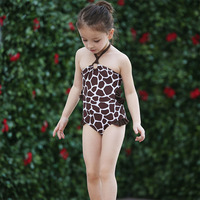 Girls Leopard Print One Piece Swimsuits Children Swimwear Girl Baby Bathing Suits for the Pool Beach Swimming Children Clothing