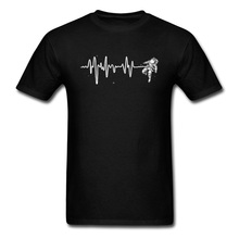 Spaceman Heartbeat Cheap Tops T Shirt Astronaut CCCP Wholesale Round Collar Cotton Men Top T-shirts Personalized