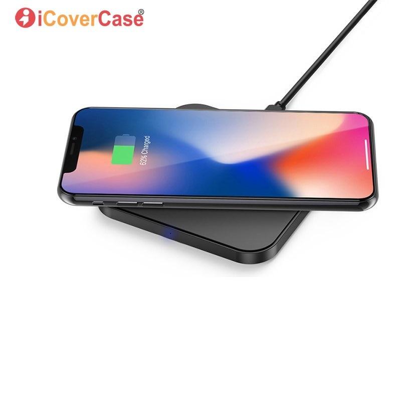 Caricatore senza fili Per Huawei P20 P20Lite P20 Pro P Smart Pad di Ricarica Universale con USB C Qi Ricevitore Chiaro Caso accessorio del telefono