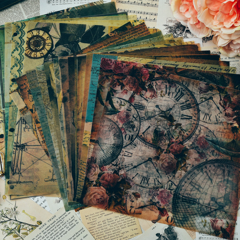 YPP ARTISANAT Vintage Punk Journal Vélin Papier Ensemble pour Scrapbooking Heureux Planificateur/Fabrication De Cartes/Journalisation Projet