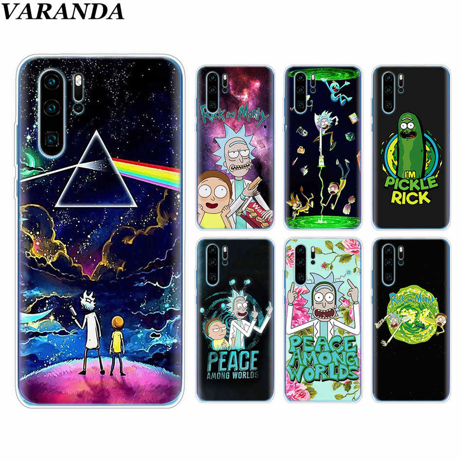 Rick and Morty Silicone Soft Case For Huawei P30 P30 Pro P10 P20 Lite P Smart Plus View 20 TPU Case Coque Fundas