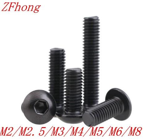 50pcs 20PCS 10PCS 5PCS Grade10.9 Button Head Screw Iso7380 M2 M2.5 M3 M4 M5 M6 M8 Hex Socket Round Button Head Screws