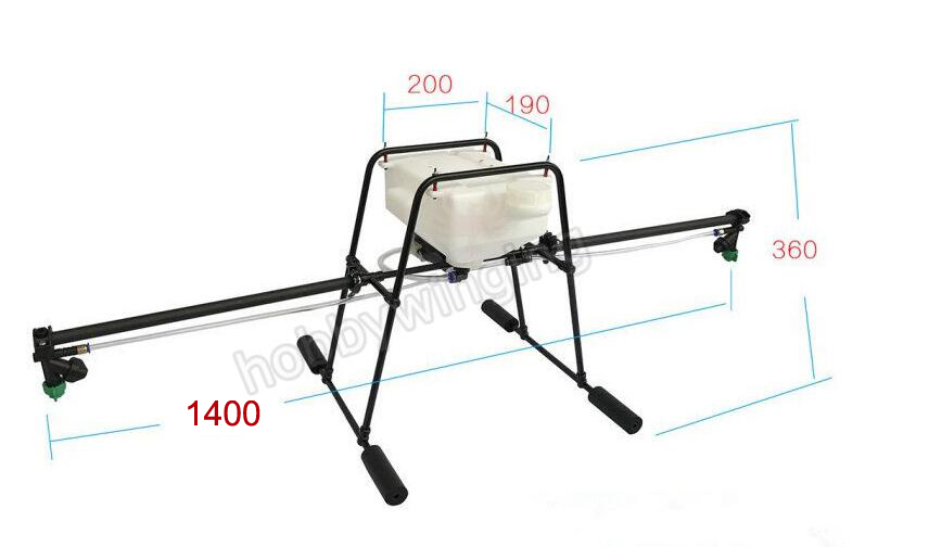 "5KG/5L Spraying Gimbal sprayer Spray System Aluminum Alloy Tube +""U""landing gear+water pump for Agricultural multirotor drone"
