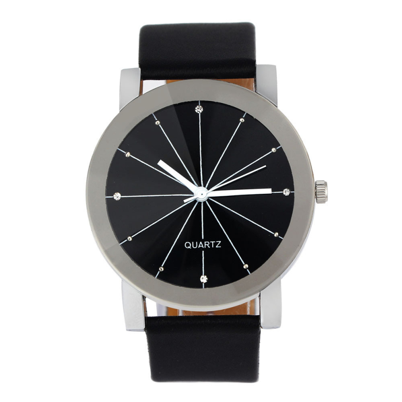 Excellent Quality Relogio Feminino Women Analog Quartz Dial Hour Watch Leather Wristwatch Reloj Mujer Round Case for Lady Gift