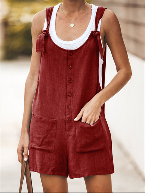 Women Rompers Solid Jumpsuit Summer Short  Jumpsuit Female Wrapped Strapless Playsuit 30