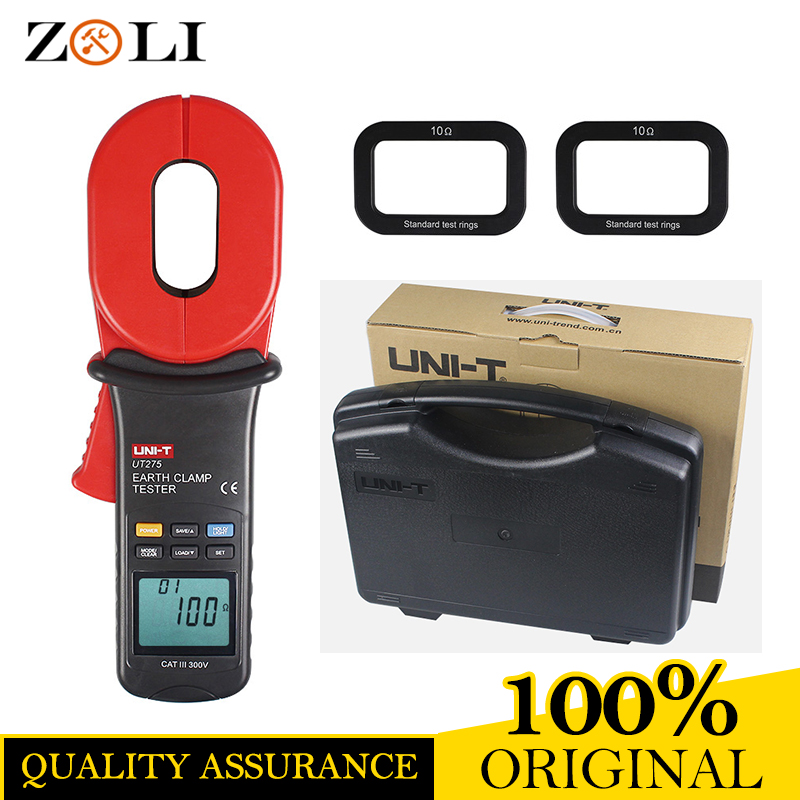 UNI T UT275 Professional Auto Range Clamp Earth Ground Resistance Testers 0.01 1000ohm w/ 0~30A Leakage Current Tester UT275