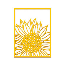 YaMinSanNiO Sunflower Background Dies Frame Metal Cutting Dies for DIY Scrapbooking Album Stamp Paper Card Embossing Diecuts(China)