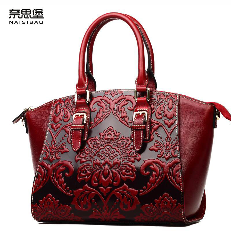 2016 new women genuine leather bag retro fashion chinese style quality luxury women handbag shoulder messenger cowhide embossing 2016 new retro candy women handbag bag fashion elegant pu leather bride bag red quality guaranteed 127