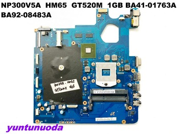 Original for SAMSUNG NP300V5A laptop motherboard  NP300V5 HM65  GT520M  1GB BA41-01763A  BA92-08483A tested good free shipping