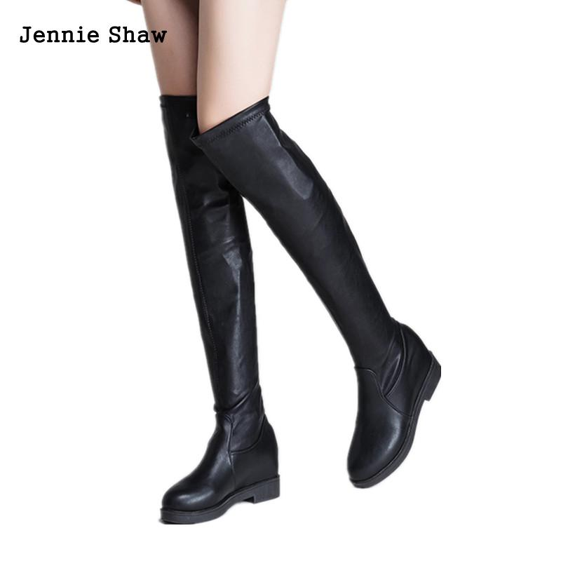 Over The Knee Boots Thigh High Boots For Women Over Knee High Heel Boots Long Flats 2017 winter women riding boots high heel fold over design near the ankle with lace detailing at side over the knee boots