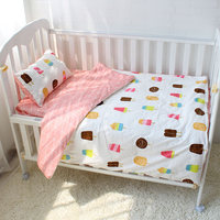 3pcs Set Baby Bedding Set 100 Cotton Pink Ice Cream Baby Bed Linen Include Duvet Cover