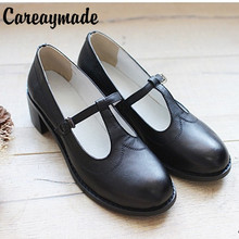 New 2014 Genuine Leather pure handmade shoes,  the retro art mori girl shoes,Womens casual shoes Flats shoes,soft surface