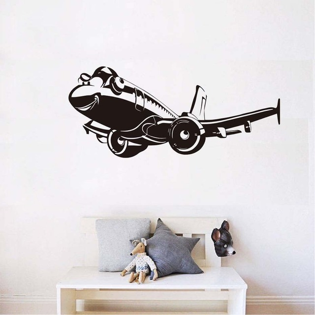 Fighter pesawat wall sticker desain baru dinding mural vinyl removable wallpaper untuk anak anak kamar