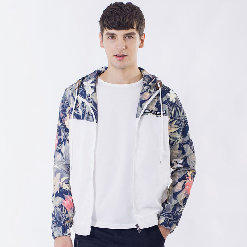 Weed Pilot Jackets Coat Florals Ma1 Bomber Jacket Men Hip Hop Slim Fit Flowers Men's Hooded Windbreaker Casacas Para Hombre